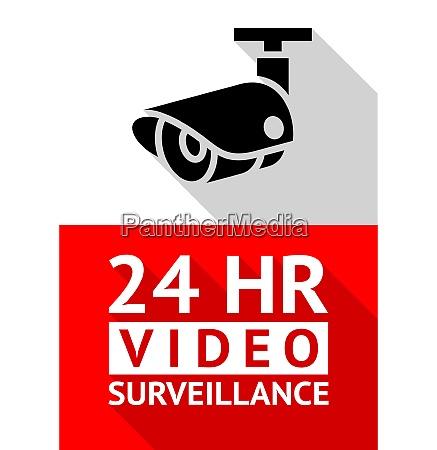 video surveillance sticker video surveillance sticker