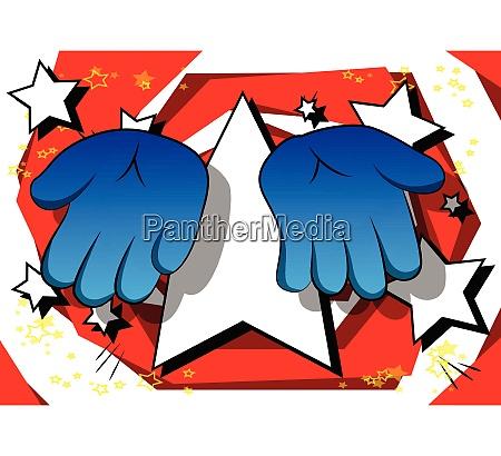 vector cartoon empty hands