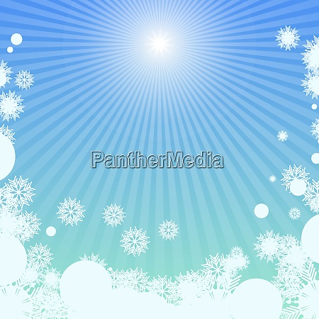 winter background with sunlight