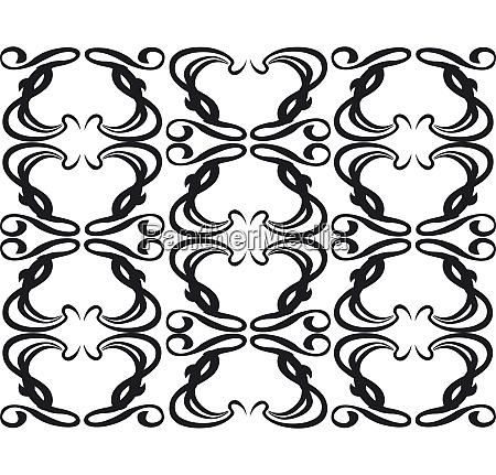 vector ornament flower black 11