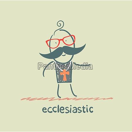 ecclesiastic going to church