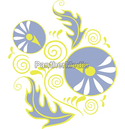 vector ornament flower in color