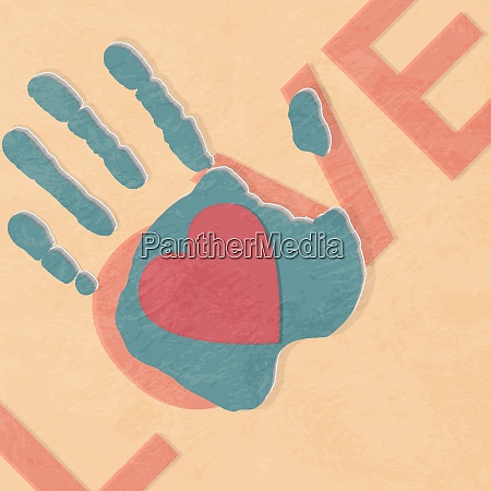 loving hand abstract background