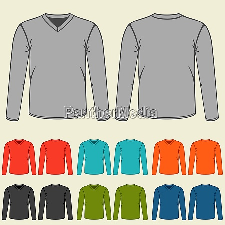 set of colored long sleeve shirts