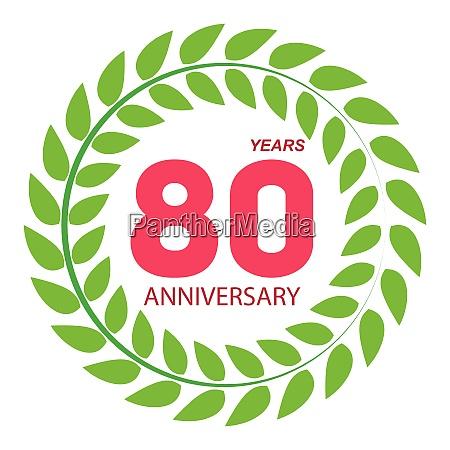 template logo 80 anniversary in laurel