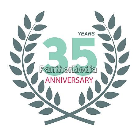 template logo 35 anniversary in laurel