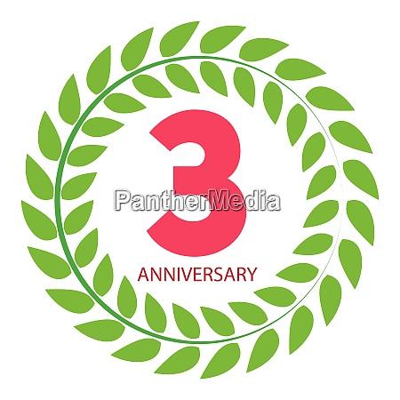 template logo 3 anniversary in laurel