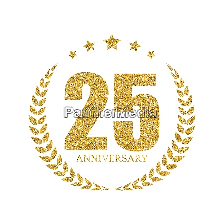 template 25 years anniversary vector illustration