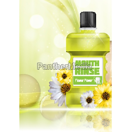 mouth rinse design cosmetics product bottle