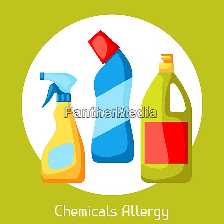 chemicals allergy vector illustration for medical