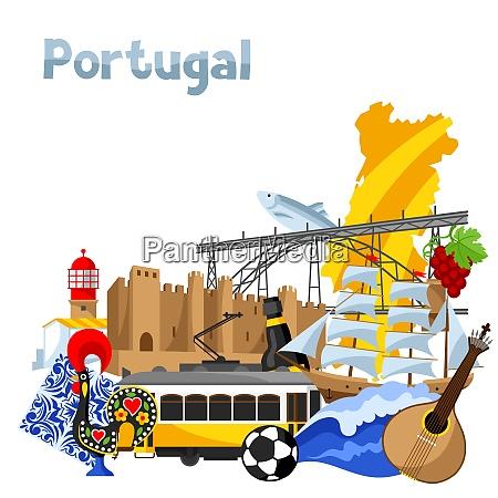 portugal background design portuguese national traditional