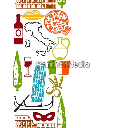italy seamless pattern italian symbols and