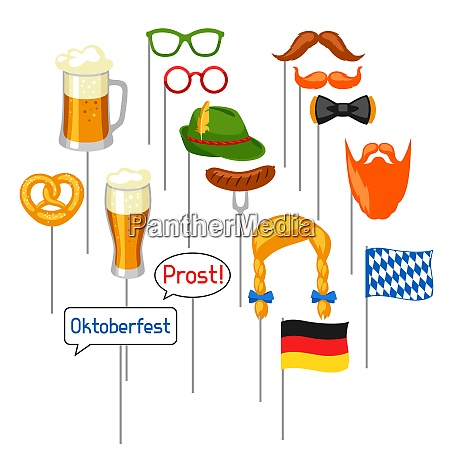 set of oktoberfest photo booth props