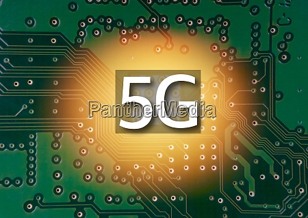 5g mobile chip on computer board