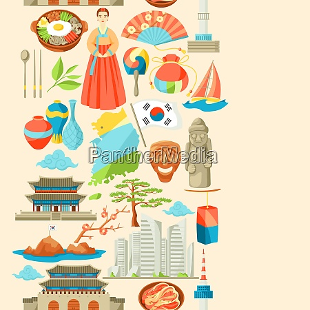 south korea seamless pattern korean traditional