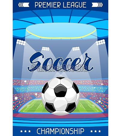 soccer stadium during sports match football