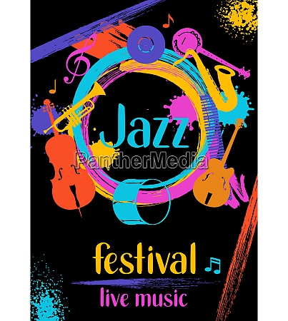 jazz festival live music retro poster
