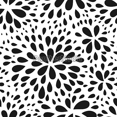 abstract seamless drop pattern monochrome black