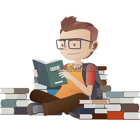 nerd geek reading book nerd geek