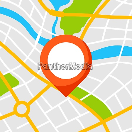 abstract city map background with marker