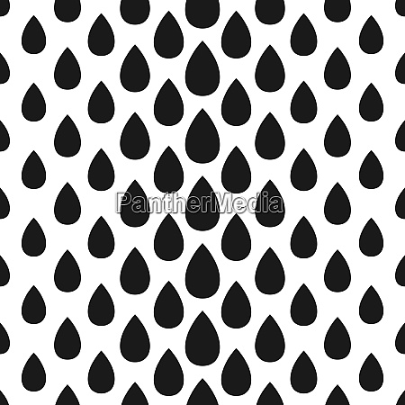 abstract seamless drop pattern monochrome black