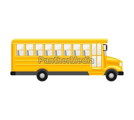 illustration of yellow school bus illustration