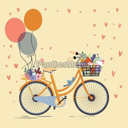retro sketch bicycle