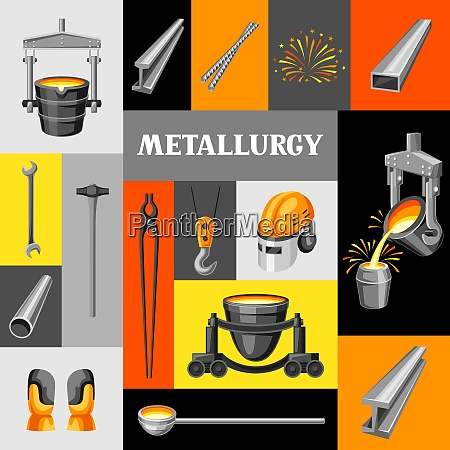 metallurgical background design industrial items and