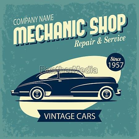 retro car vintage automotive