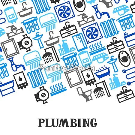 plumbing background design plumbing background design