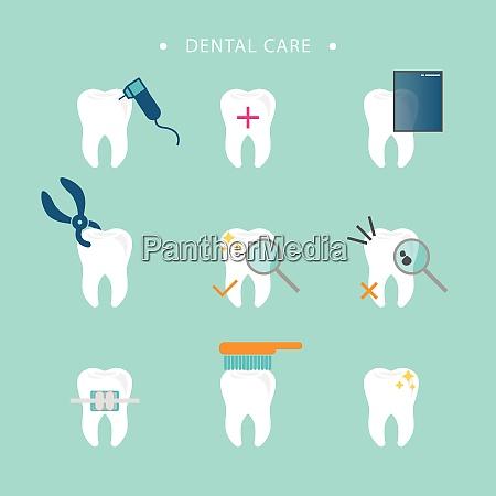 dental care logo template dental care