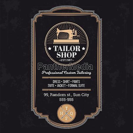tailor logo template brand identity tailor