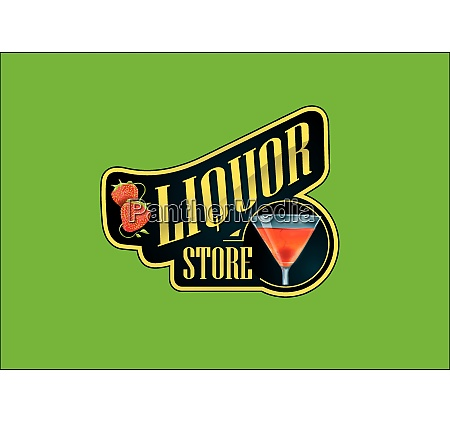 liquor logotype logo liquor logotype logo