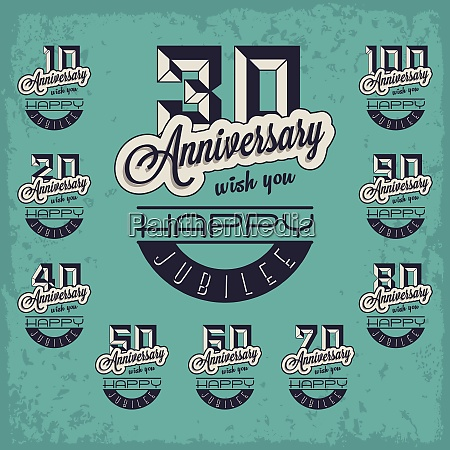 anniversary badge emblem anniversary badge emblem