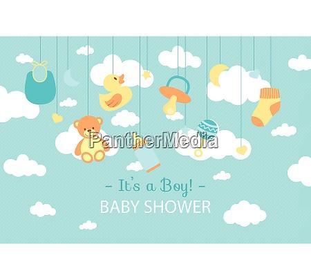 baby shower celebration baby shower boy
