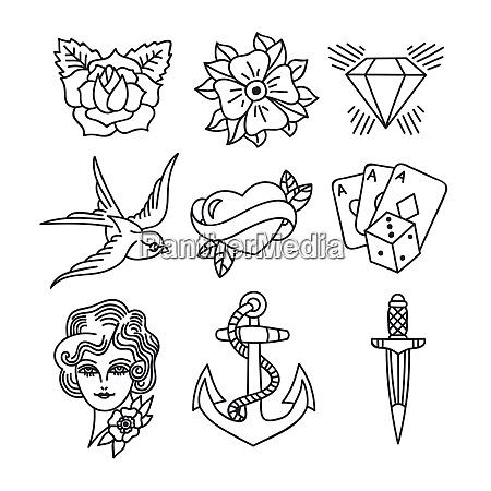 tattoo retro art theme tattoo retro