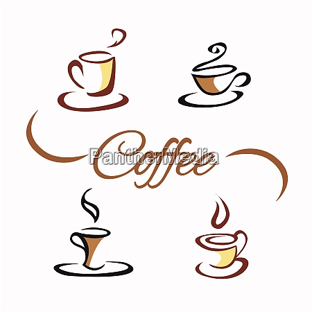 coffee shop theme latte cappuccino espresso