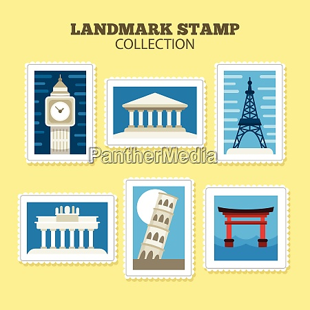 city post stamp collection city post