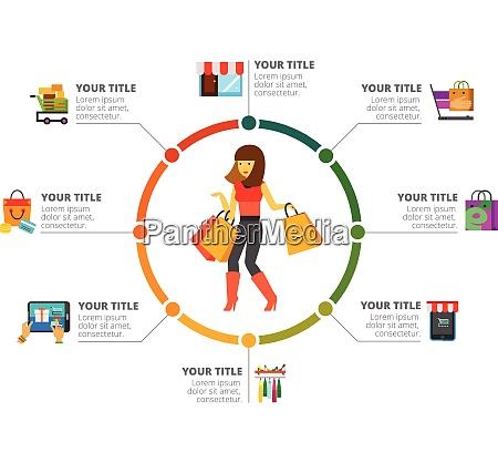marketing shopping market theme vector marketing