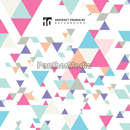 abstract modern colorful triangles pattern elements