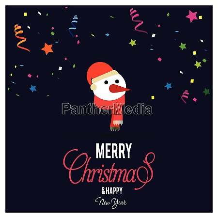 christmas card with creative design and