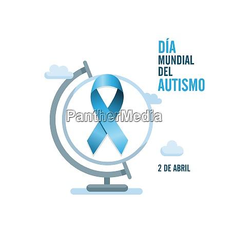 blue autism ribbon and globe international