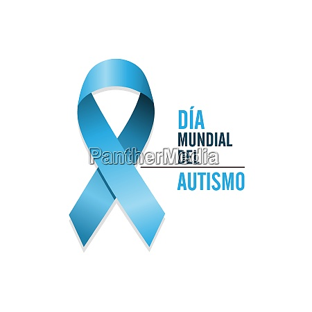 blue autism ribbon with spanish text
