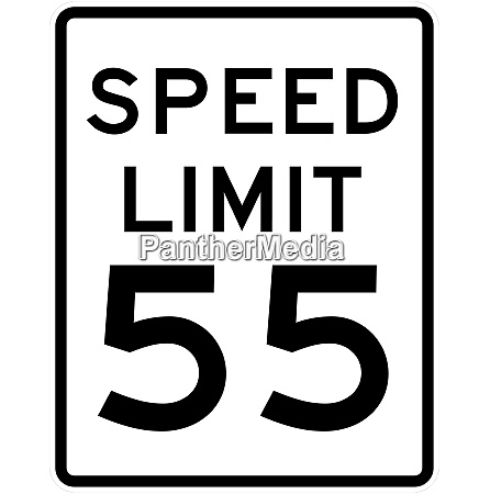 speed limit sign 55 mph