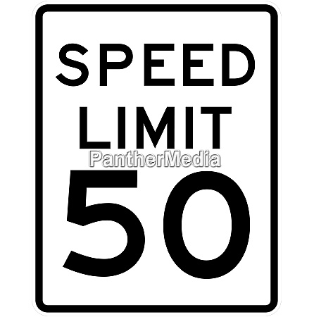 speed limit sign 50 mph