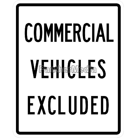 commercial vehicles excluded