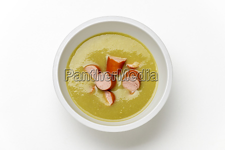 german pea soup with franks