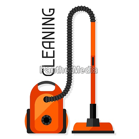 housekeeping background with vacuum cleaner image