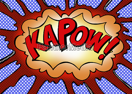 kapow exploding speech bubble
