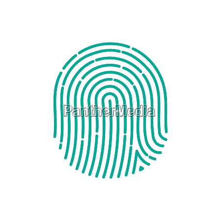 fingerprint icon image flat fingerprint icon